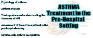 prehospital treatment asthma